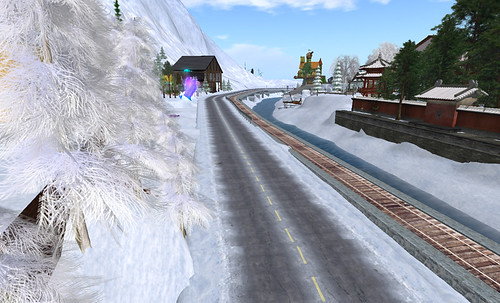 Roads and rails in the snowlands