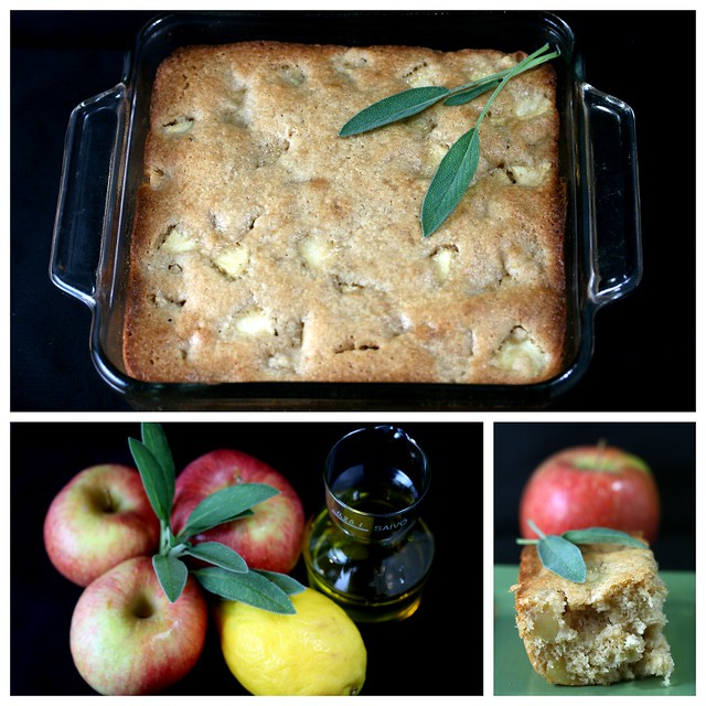 apple-sage-oliveoil cake