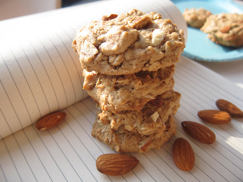 Almond Butter Oatmeal Cookies!