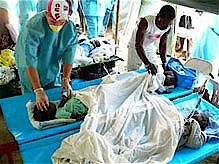 Cuban medical personnel were in Haiti when the earthquake happened and are still there, while half of the NGO's have already left. (Photo: Juan Diego Nusa Peñalver, special correspondent) by Pan-African News Wire File Photos