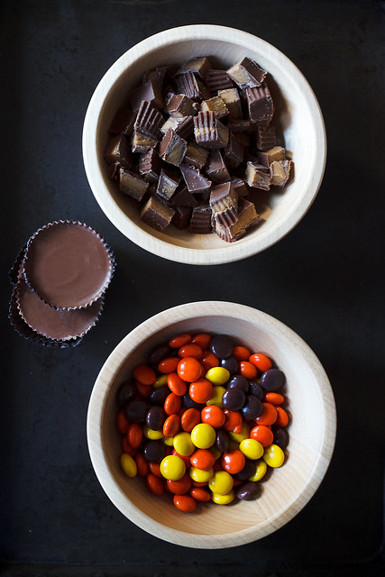 Reese's Pieces and Reese Peanut Butter Cups