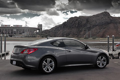 Hyundai Genesis 2.0T (Monkey Wrench Media) Tags: 2 arizona sky cloud clouds dark grey 22 south gray az korea turbo korean plus genesis southkorea hyundai rs coupe tempe liter litre turbocharged turbocharger theta 20t 2plus2 worldcars