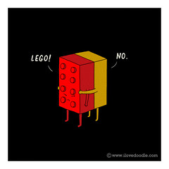 Letgo! (ILoveDoodle) Tags: travel music cute love fashion design clothing funny couple lego humor arts breakup letgo ilovedoodle