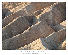 Morning Light, Zabriskie Point, Detail (G Dan Mitchell) Tags: california park morning travel light usa detail nature america point landscape death desert mud hill north scenic diagonal ridge southern dirt national valley edge gower form zabriskie desolate highlight rugged gulch gully erode sotck