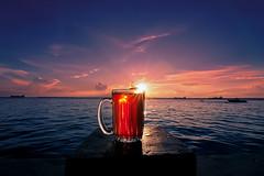 #850C6017- Waiting for sunset (Zoemies...) Tags: sunset beach glass colors waiting flare balikpapan melawai zoemies