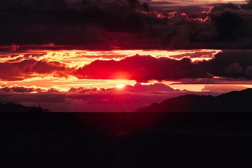 無料写真素材, 自然風景, 朝焼け・夕焼け, 雲, 風景  日本