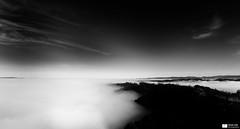 Sea of Fog (Daniel Wildi Photography) Tags: wood sea sky blackandwhite bw sun mist tower fog clouds forest tv 2011 cantonbern seaoffog bantiger danielwildiphotography