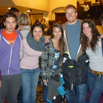 WMSC K2 and FIS Racers Hanging out in the hotel with the worlds best GS skier- Esme McTavish, Akio Kato Hannah Kupur, Alysia Kwong, Ted Ligety, Kelly Steeves, Julian Brumec-Parsons PHOTO CREDIT: Jeff MacLennan, WMSC Coach