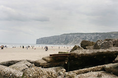 Reighton Beach 2. (Chloe Hague.) Tags: sea people beach rocks yorkshire cliffs reighton