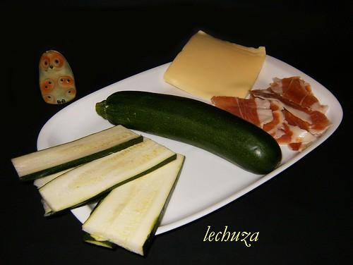 Calabacín relleno-ingredientes.