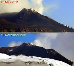 The Mountain Of Constant Change (etnaboris) Tags: italy mountain volcano change sicily etna viewfromhome eruption 2011 trecastagni paroxysms volcanogrowth newsoutheastcrater paroxysmaleruptiveepisodes