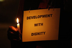 Development with Dignity (Joe Athialy) Tags: canon delhi protest candlelight candlelightvigil indiagate coalmining tribals panem 4