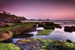 Mengening Beach - Sunset (Maxwell Campbell) Tags: longexposure sunset bali beach indonesia landscape rocks cemagi mengening canguu