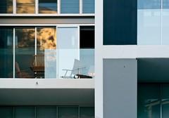 Architecture 44 (Ximo Michavila) Tags: blue light shadow urban sunlight abstract reflection building geometric window glass lines architecture square chair balcony sydney architecturephotography archidose ximomichavila