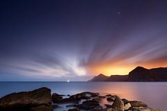 First Stars (raul_lg) Tags: sea seascape canon landscape mar flash murcia nubes nocturna contaminacion portman maritima largaexposicion canon1635 5dmarkii raullg