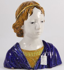 29. Quimper Figural Bust of a Young Child